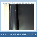 black tpu adhesive film for mesh fusing shoe upper making free sewing shoe upper leather