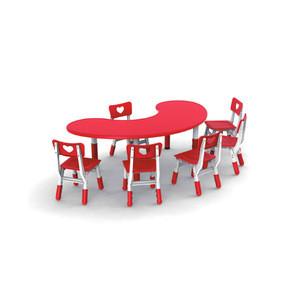Moetry Modern Wood Nursery School Furniture Free Combine Study Table For Kids Classroom