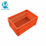 Folding Plastic Perforated Crate Foldable Basket