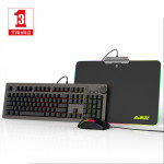 Hot sale RGB Mechanical gaming keyboard mouse  combos with mouse pad Custom  Programmable functions