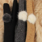 fashion design Cashmere Women Gloves can touch screen 207640
