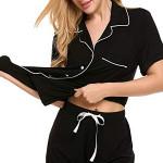 Pajamas WomenS Short Sleeve Sleeping Clothes For Women Cotton Soft Set Xs-Xxl
