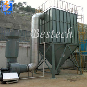 pulse bag house dust collector for boiler for rotary kiln