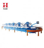 Automatic cotton textile silk screen printing machine for fabrics printing and dyeing 12 color