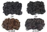 High Quality 70g Matt Synthetic Drawstring Clip Curly Chignon For White Women