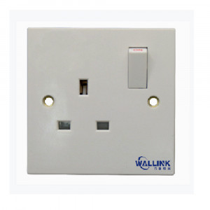 New Listing Single Pole Doulbe Pole White 13a Switched Socket for Industrial