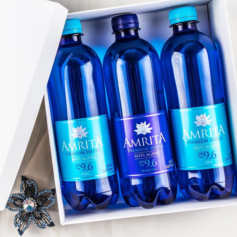 AMRITA ALKALINE ANTI-AGING MINERAL WATER 500ML STILL SPARKLING pH9
