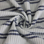 Double side brushed 100% polyester cationic 3x3 rib knit fabric-18003614