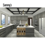 Wooden Material Kitchen Cabinet Pantry Cupboards With Home Appliances