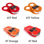 4T/8T/10T Heavy Duty Recovery Winch Snatch Pulley Block for 4x4 winches (Orange/Red)