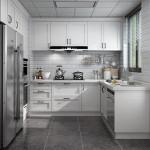 USA Modern Gray Kitchen Cabinet From China Maker