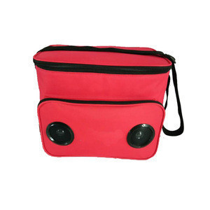 Custom lunch cooler bag with bluetooth speaker