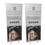 Custom Portable Trade Show Aluminum Advertising Outdoor Rollup Backdrop Retractable Roll Up Banner Stand