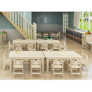 Moetry Customized Design Wooden Kids Classroom Furniture Tables And Chairs Factory Direct