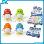Wind up penguin cartoon gift toys penguin toy animal Clockwork spring toy