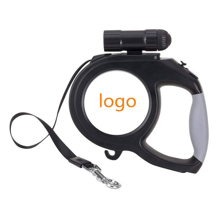 Pet Automatic Telescopic Traction Rope ABS Dog Supplies LED Reflective  5M Automatic Retractable Dog Leash