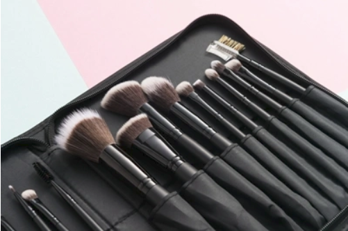 Import 20pcs Vegan Makeup Cosmetic Brush Set with Folding Zipper Pouch from China