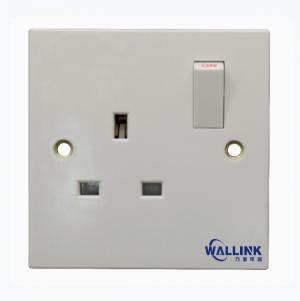 BS UK type 13A single switched  socket  ( British standard white range)