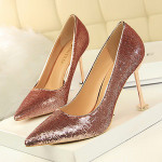 fashion ladies stiletto noble dress shoes, women pointed sequins high heel shoes