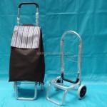 Aluminium foldable luggage trolley Folding shopping trolley Luggage cart barrow with foldable aluminium handle