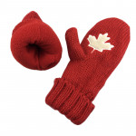 F031 Acrylic wool mitten with embroidered custom logo for winter season