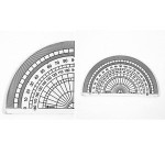 Custom made different types clear acrylic protractor