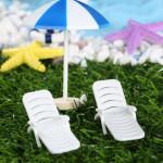 Mini artificial beach chair doll house decoration ornament DIY accessories