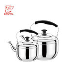 Apple Shape  Stainless Steel Water Stovetop Whistling Kettle