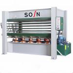wood machine hot press for plywood, pvc, MDF lamination on doors
