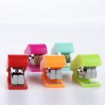 Hot sale 12 Sheets colorful Mini Stapler No. 10 Staples