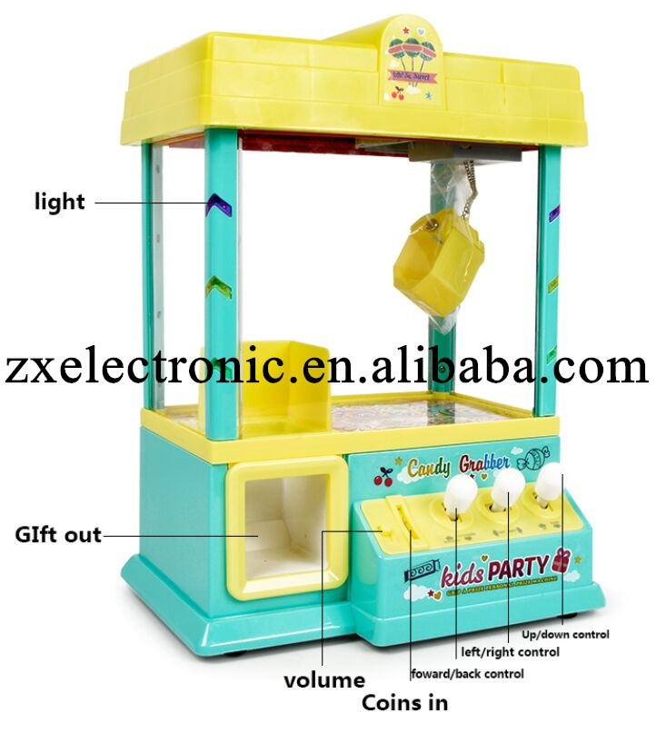 Hot selling electric toys kids coin operated game machine DIY claw machine