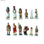 Polyresin Roman vs Egyptian Chess Sets