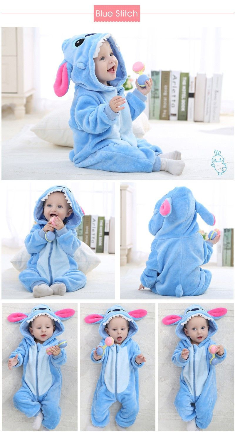 Import Newborn Flannel Baby Rompers Toddler Overalls Bebe Boys Girls Hooded Jumpsuit Animal Christmas Halloween Costumes Baby Clothes from China