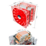 ALSEYE EDDY-120 LED CPU cooler with 4 heatpipes and dual PWM 120mm fans for Intel and AMD CPUs
