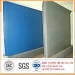 sound barrier panels used as wall partition, ceiling, five star hotel