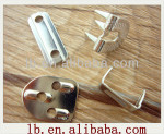 2013 high quality silver ,anti-brass metal trousers hook and bar for garment for garment
