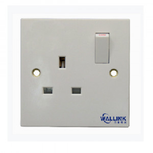 2021 single pole doulbe pole White Plate Switch Socket for Industrial
