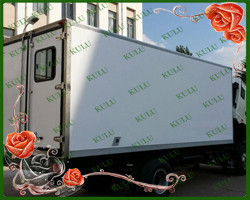 big and small size top quality refrigerated fiberglass truck box body ,CKD fiberglass truck body
