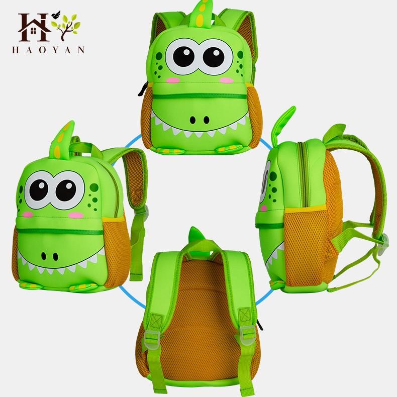 Cartoon Animal School Children Bag Kindergarten Kids Backpack 3D Kids Diving Materials Waterproof Breathable School Bag For Girl