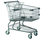 Wholesale supermarket equipment hand trolley, low price China manufacturer metal grocery mall shopping cart