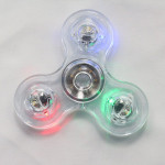 Transparent Crystal Plastic LED Hand Spinner Crystal Luminous Fidget Spinner Led EDC For Autism Focus Anxiety Stress Toys