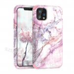 Wholesale 3in1 Heavy Duty Hybrid Full-Body Shockproof Mobile Phone Bags & Case Marble Phone Case For Iphone 11