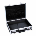 Portable Custom Aluminum Brief Case/ Notebook Lock Attach Case with customized size and pocket