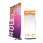 Trade Show Display Promotion Adjustable Height Retractable Roll Up Banner Stand