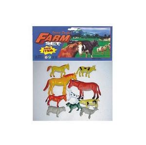 Educational Toys  Kids PVC Farm Animal Toys Set Mini Plastic Farm Animal Figurines