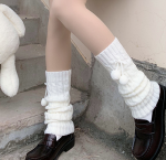 Japan pattern kawaii socks white slouch socks cotton leg warmers with 3D panda