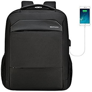 Nylon waterproof anti-theft USB Charger smart laptop backpack bag With Security Coded Lock / Laptop Backpack Bag