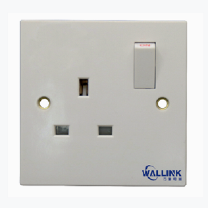 Factory Outlet Single Pole Doulbe Pole White Uk Wall Socket for Industrial