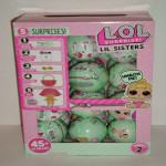 LOL SURPRISE FULL BOX CASE OF 24 BALLS LIL LITTLE SISTER DOLLS SERIES 2 WAVE