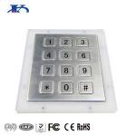 Metal access control 12 keys RS232 numeric keypad